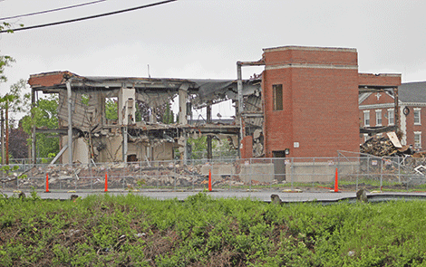 Arconic demolishing several old buildings at Massena's west plant