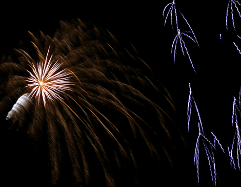 A fireworks show was part of the July 4 celebration in Morristown. Photo by Bruce Dana.