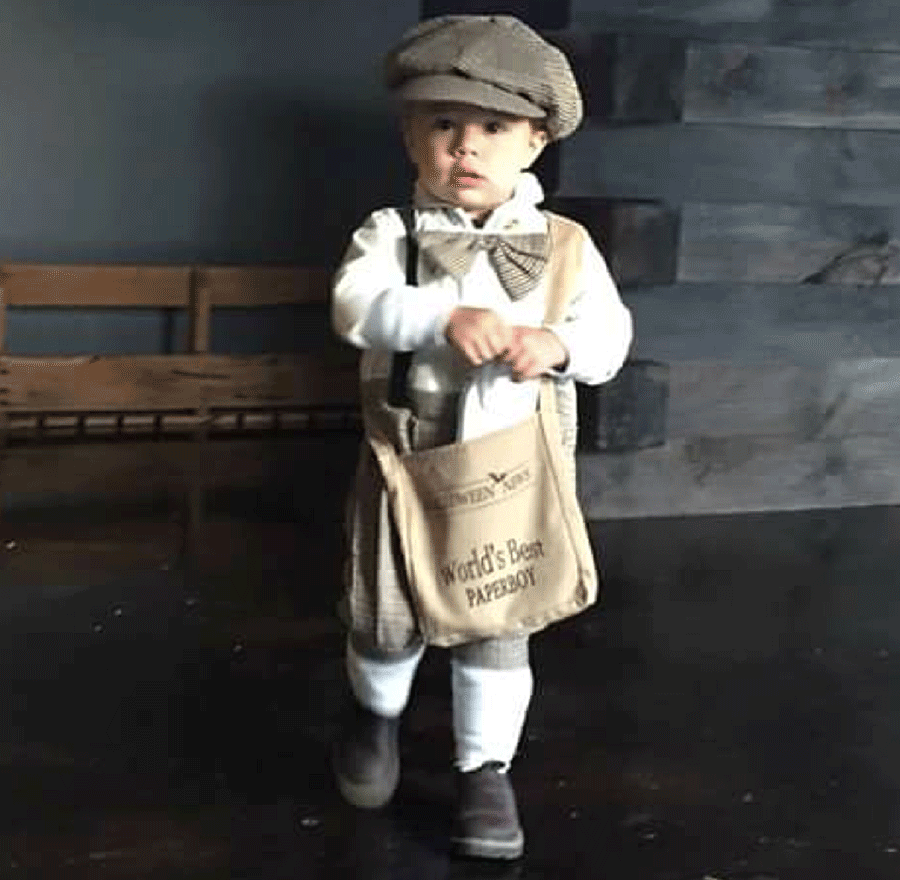 Liam Anthony Arduine of Russell dressed as an old tyme delivery boy for Halloween. Photo submitted by Rondi Jo Dunn.