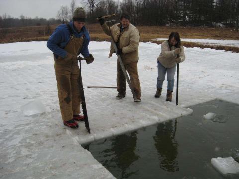 ice cutting
