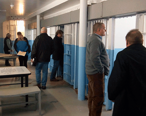Old St  Lawrence County jail toured by state officials